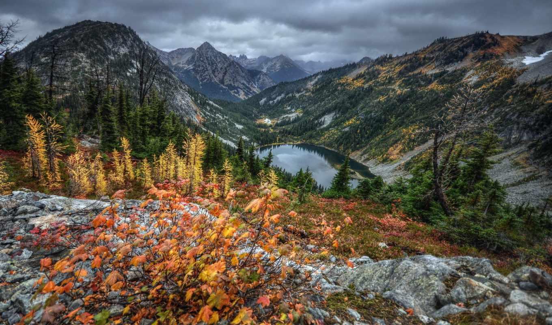 озеро, горцы, природы, прекрасными, уголками,