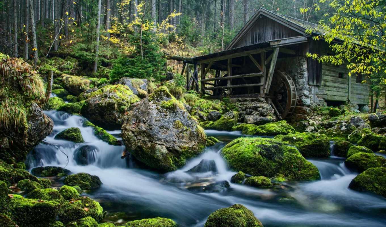 rar, камни, мельница, прекрасной, лес, украшения, природой, природы, прекрасными, уголками, пейзаж, валугы, река, горная, вода,
