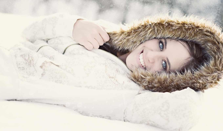 девушки, девушка, снегу, снег,