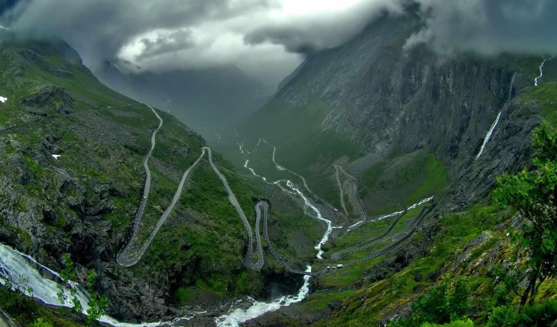 горная, mountain, pass, природа, trollstigen, дороги, горы, photography, китая, this, планети, mountains, найкрасивіші, извилины, landscape, download, місця,