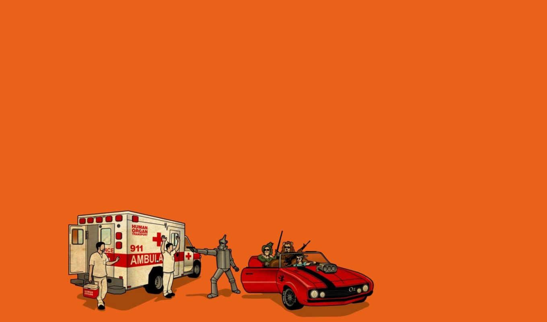 oz, скорая, захват, robbing, wizard, characters, ambulance,, ограбление, медицинской, изумрудного,