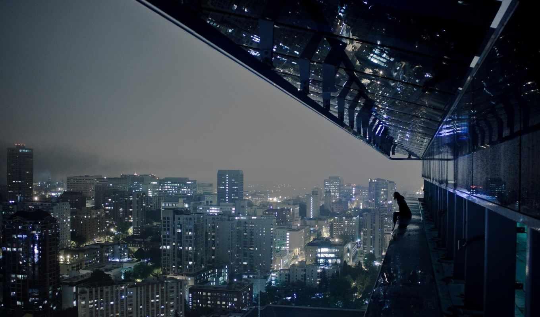 город, одиночка, ночь, толпе, than, вечер, одиночества, страшнее,