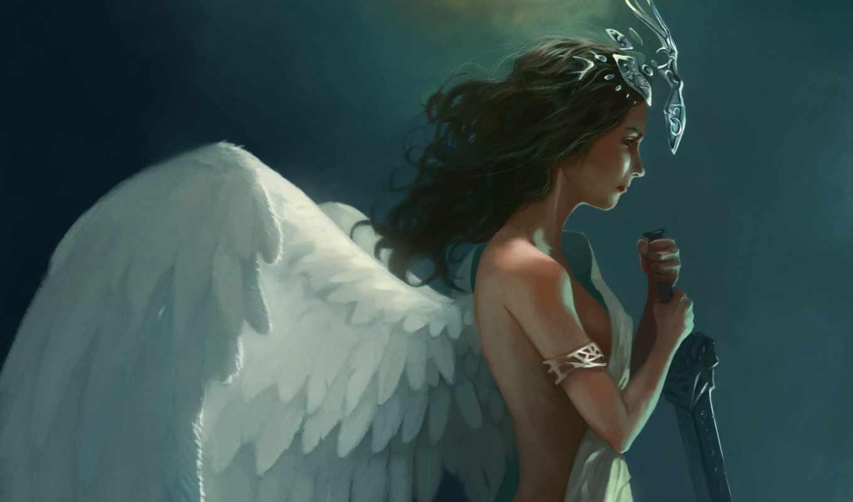 крылья, ангелы, ангел, девушка, арт, фэнтези, francisco, категории,