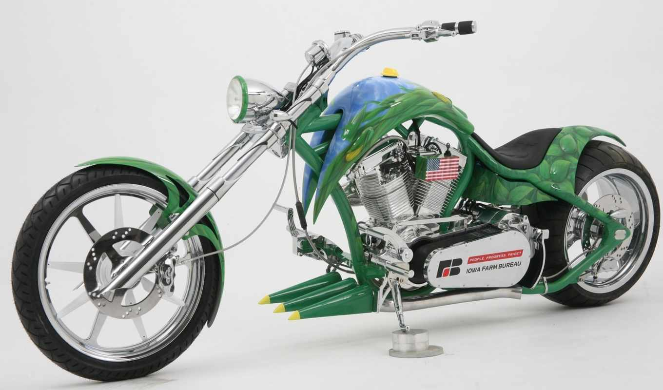 , spider, harley, davidson, american, occ, motorcycles, ethanol, customizing, photo, green,