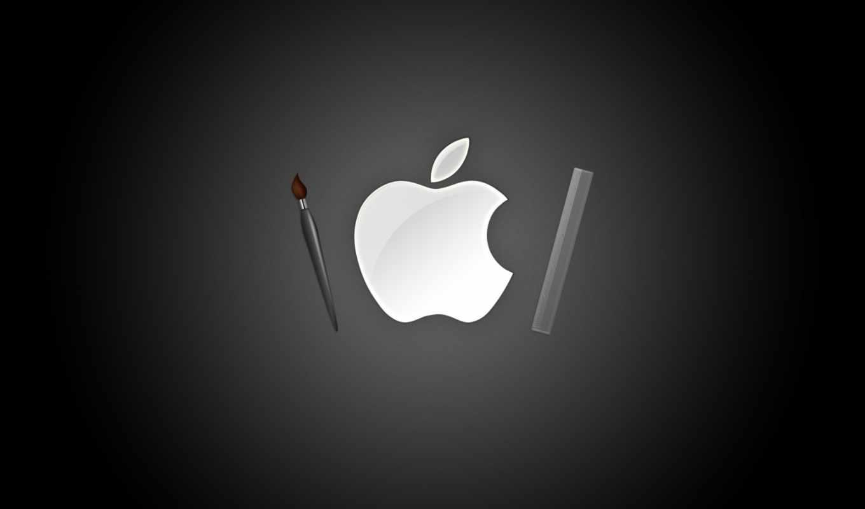 apple, love, iphone, mac, desktop, brush, stick