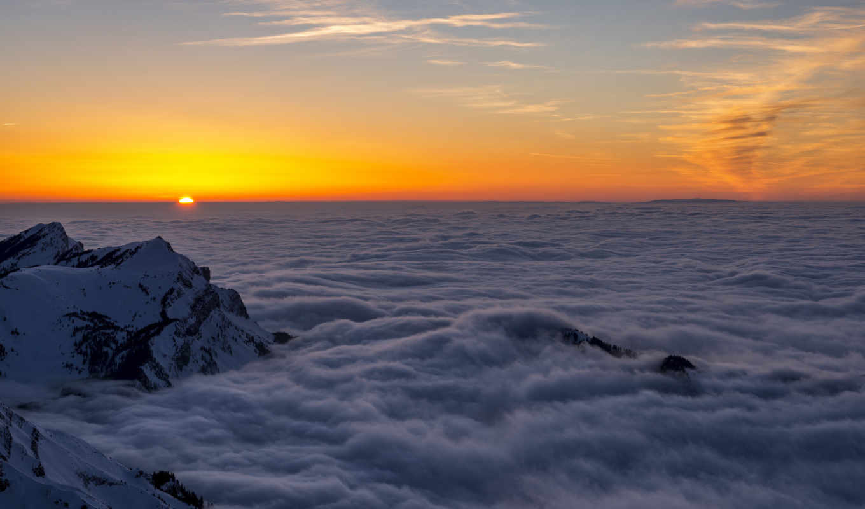 range, гора, облака, фото, который, ан,