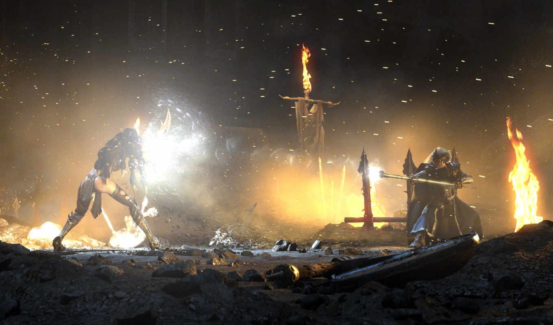 warhammer, online, fantasy, age, reckoning, art, battle, man, widescreen,