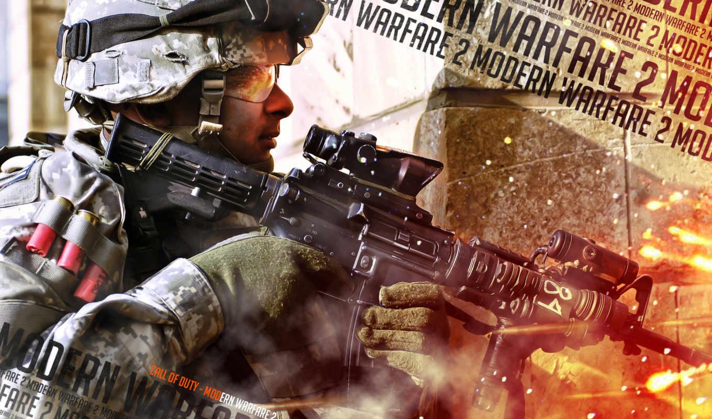 warfare, modern, call, duty, автомат, солдат, патроны, рикошет,