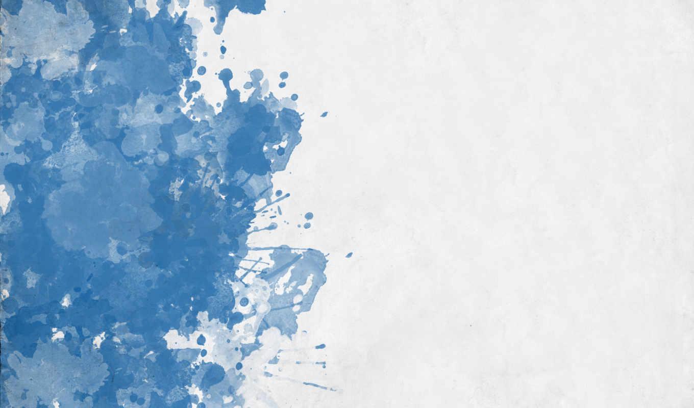 кляксы, синий, белый, картинка,