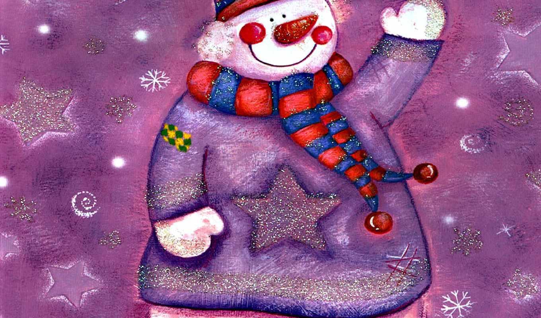 снеговик, улыбка, рисунок, птичка, зима, christmas, год, новый, iyoga, новым, годом, праздники,