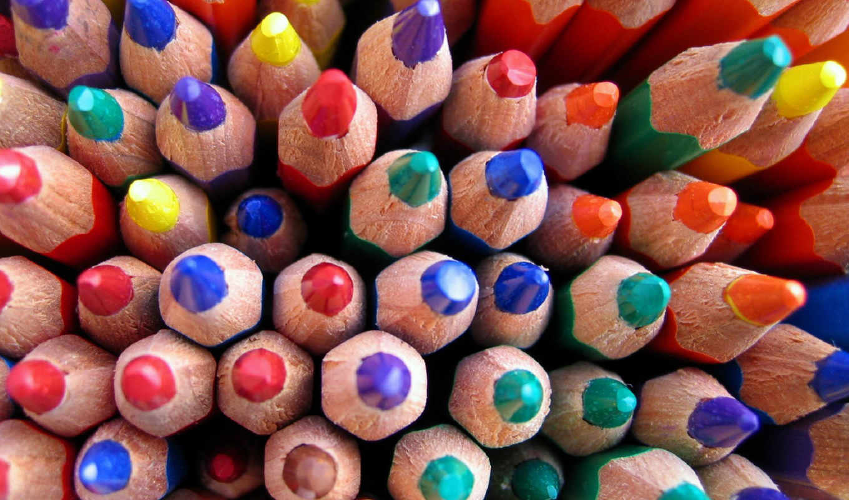 разные, карандаши, но,
