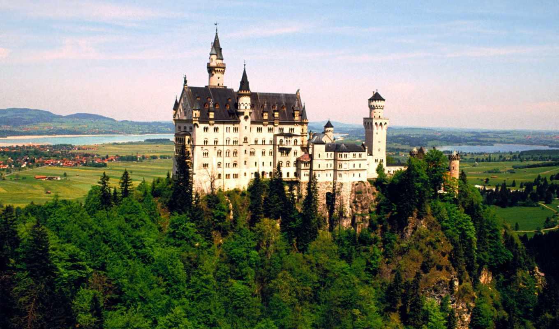 нойшванштайн, castle, германия, нойшванштайн, бавария,