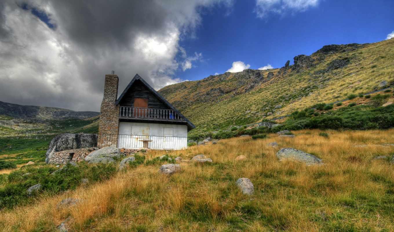 горы, красивые, горах, serj, lodge, house, design, долины, широкоформатные,