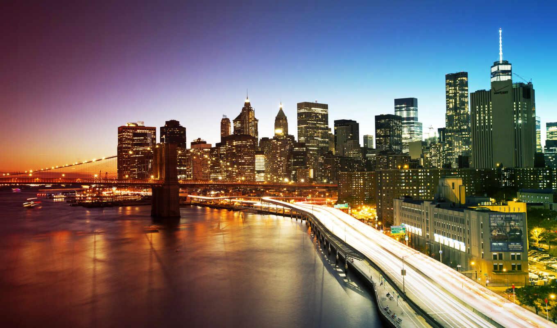 york, new, manhattan, сша, нью, мост