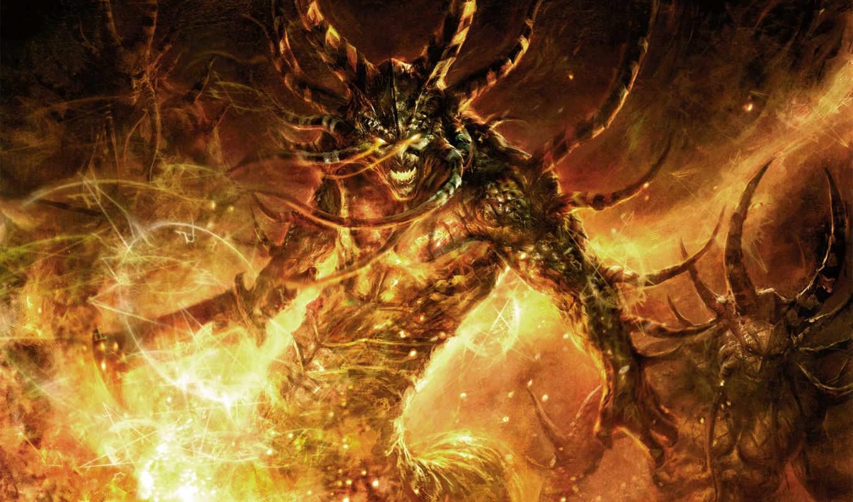 world, demon, warcraft, inferno, fire, game, trading, card, fantasy, anime, از, demonios, картинку, демоны, fogo,