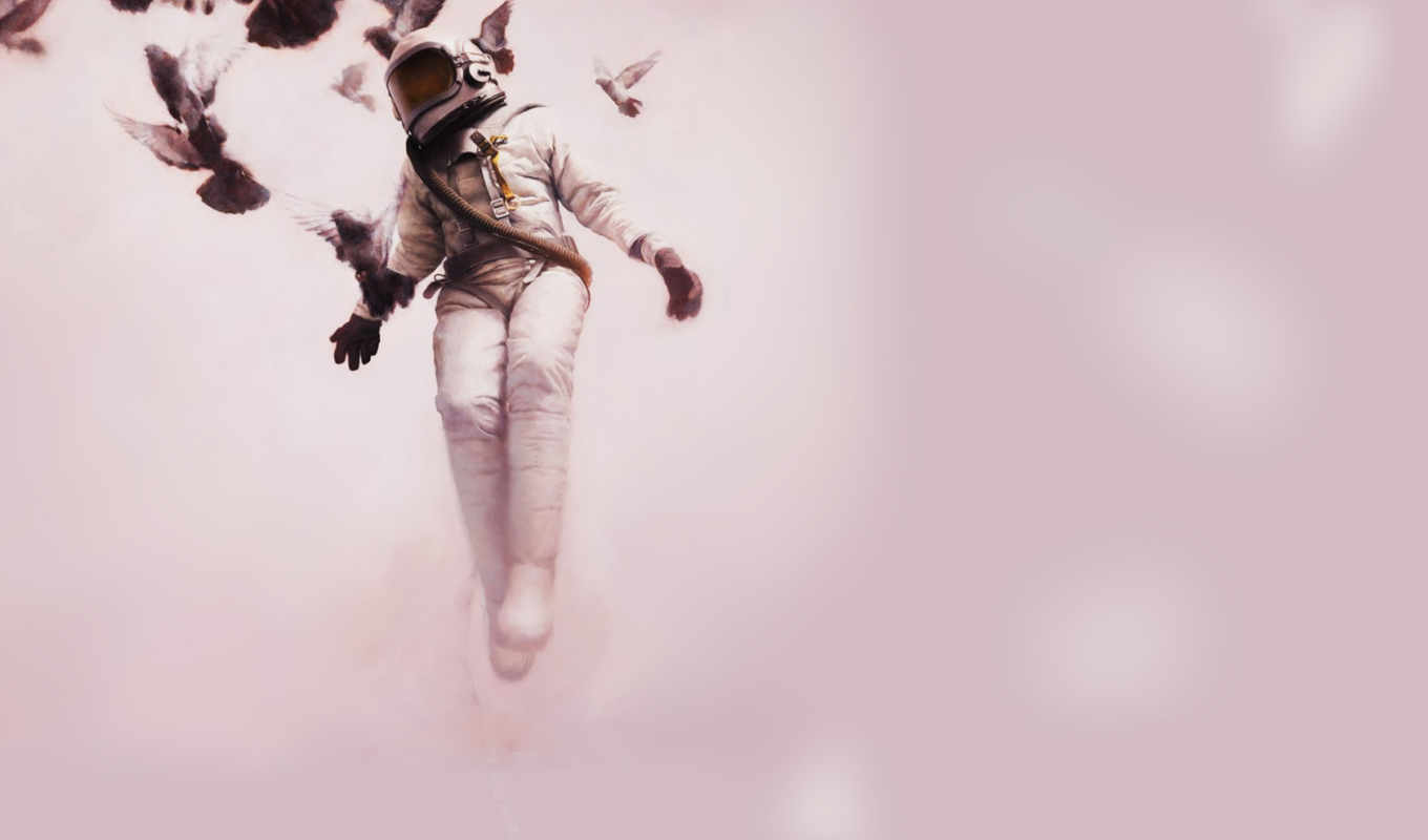 jeremy, художник, geddes, flight, birds, современный, paintings, cosmonaut, его, white,