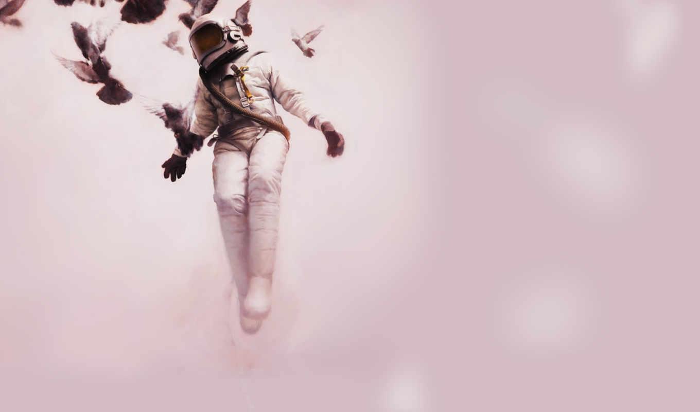 jeremy, художник, geddes, flight, birds, современный, paintings, cosmonaut, его, white,