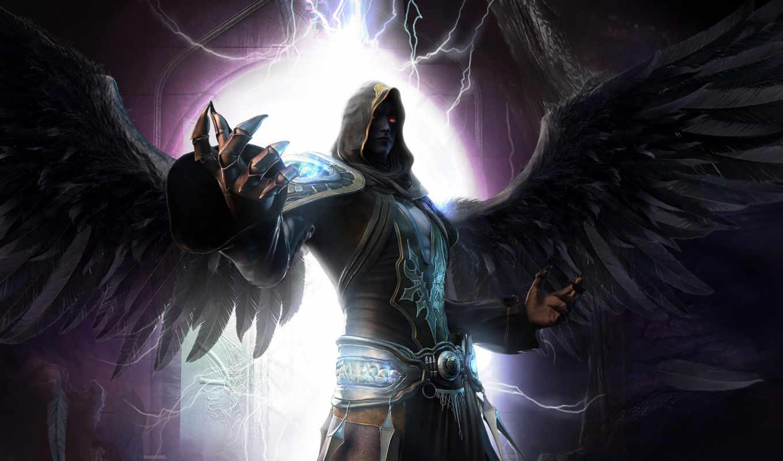 angelas, tamsiai, tapetai,