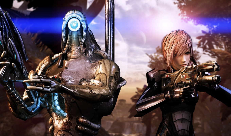 коллаж, девушка, легион, робот, оружие, mass, effect, fan, fantasy, art, final, игры,