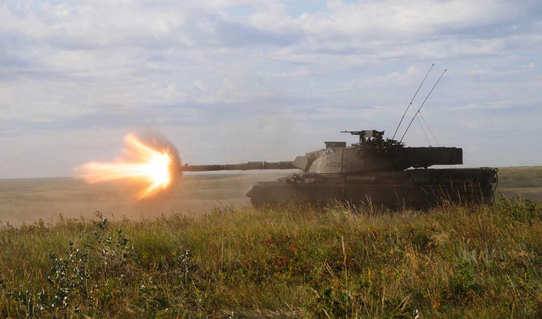 ,танк, леопард, выстрел, канадский, shot, огонь,