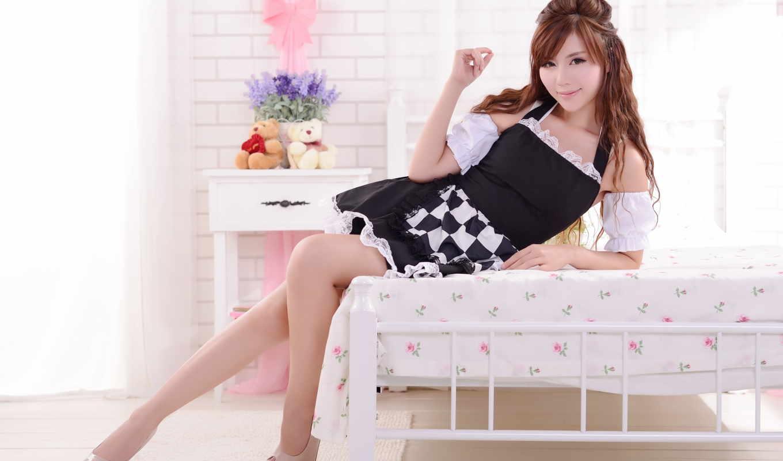 девушки, legs, women, girls, asian, brunettes, монитора, hot, часть, красивые, азиатские, love,