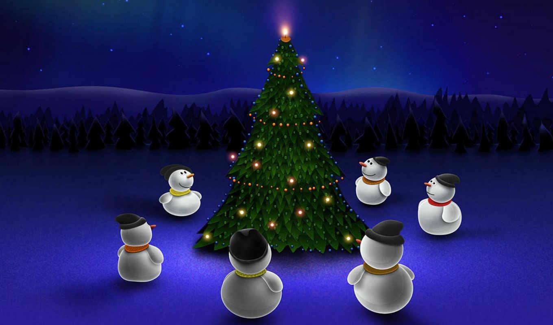 waiting, xmas, christmas, tree, снеговики, snowmen, ipad, free,