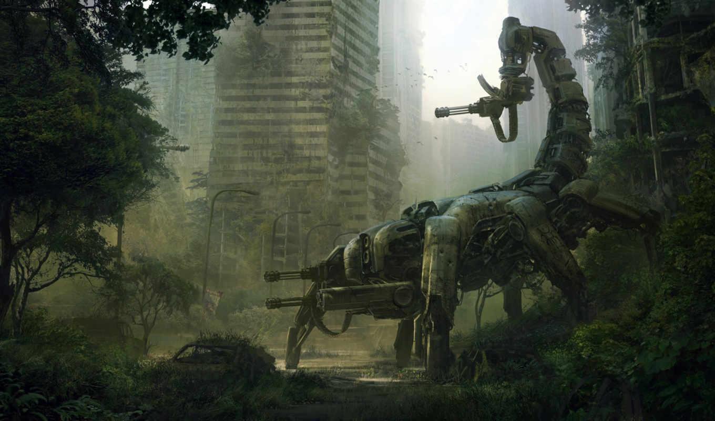 wasteland, город, робот, руины, картинка, оружие, game, арт, andreewallin, машина, скорпион, fallout, first, you, save, fargo, with, inxile, games, правой, кнопкой, ней, картинку, скачивания, выберите