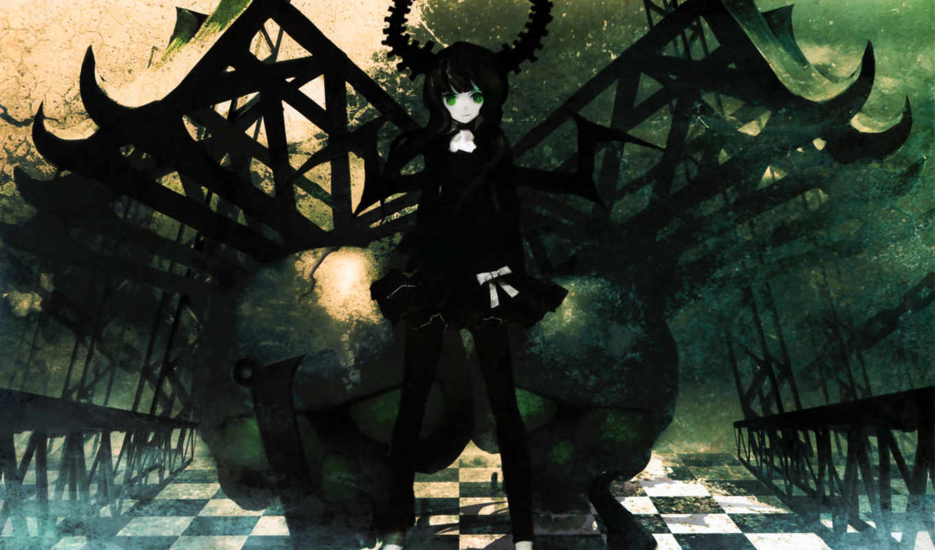black, rock, shooter, master, dead, that, huke, visual, you, anime, works,