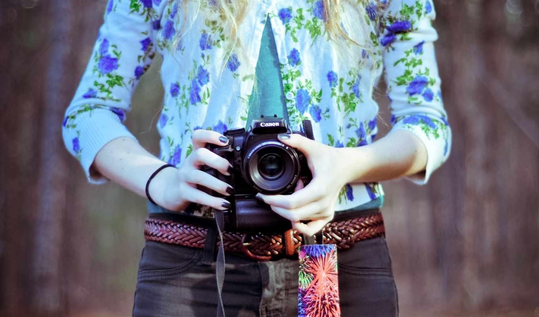 девушка, фотоаппарат, настроение, canon,