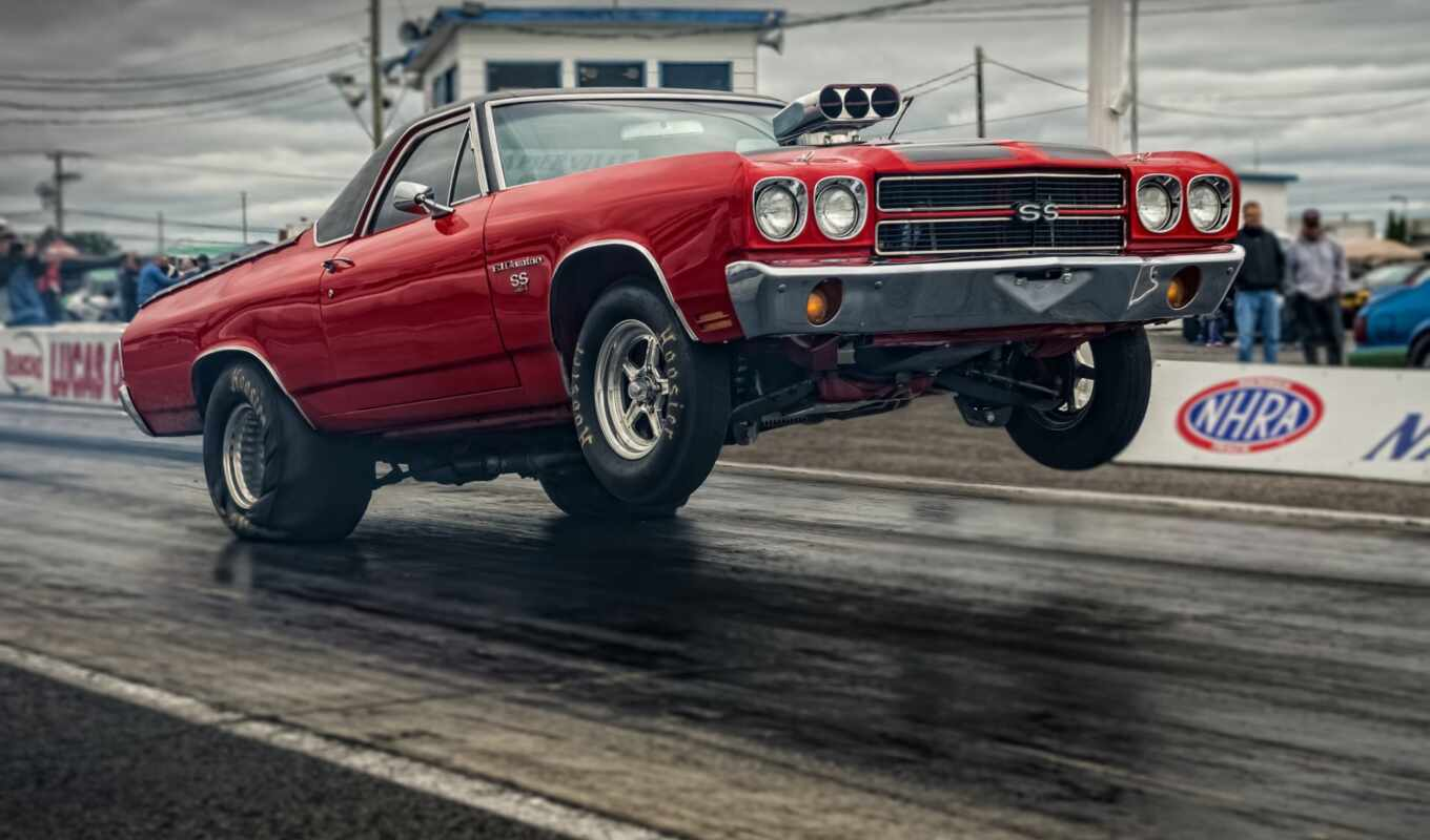 chevrolet, car, muscle, drag, скорость, кар, start, camino, racing, гонки,