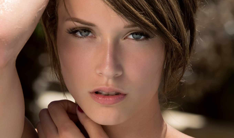 malena, morgan, eyes, девушка, women, шатенка, смотреть, blue, brunettes,