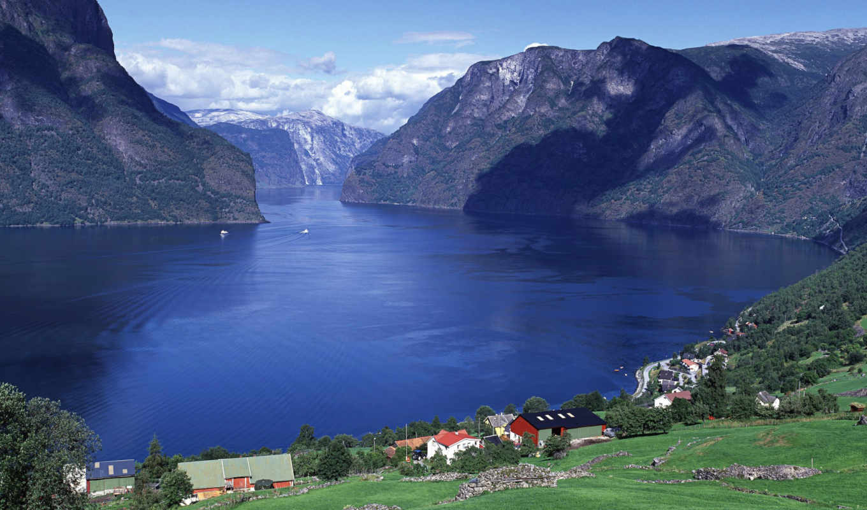 windows, норвегия, aurlandsfjord, панорама, фьорды,