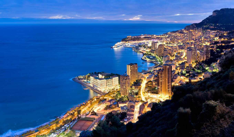 carlo, монте, monaco, пляж, княжество