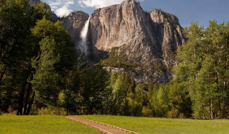 природа, сша, national, парки, park, yosemite, landscape, mt, леса, water, oregon, cliff, капюшон, озеро,