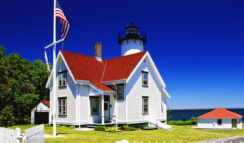 lighthouse, west, slide, chop, house, far, массачусетс, часть, vineyard, картины, views,