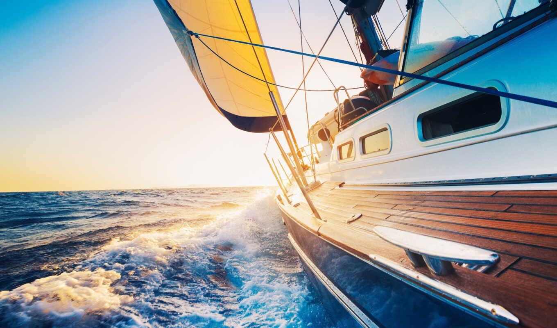 яхта, море, starve, парусник, sail, красивый, club, курс, receive, vypusknoi, прогулка
