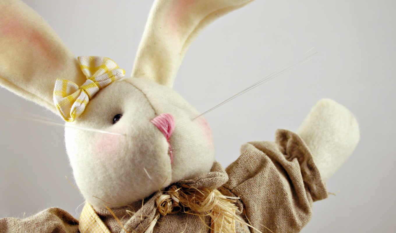 кролик, плюшевый, обои, заяц, подборка, празднична