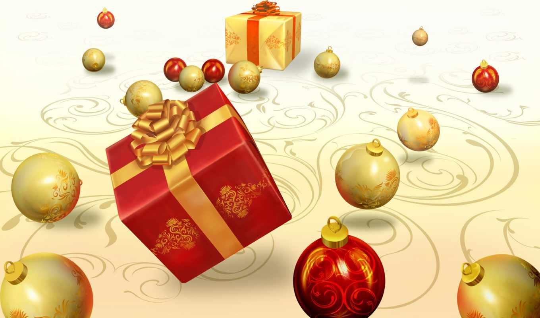 подарки, шары, christmas, desktop, игрушки, presents, ipad, подарок, год, новый,