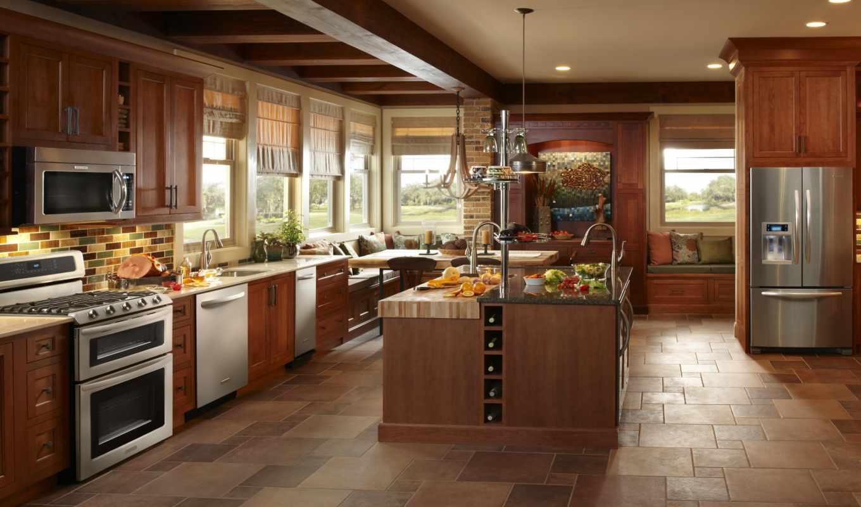 кухня, техника, бытовая, stil, kitchen, интерьер, кухни, дерево,