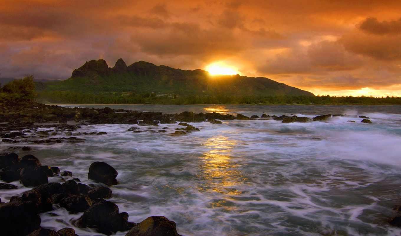 море, природа, пляж, hawaii,