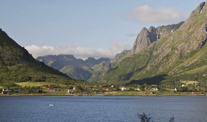 изображение, mountains, landscape, природа, para, картинка, норвегия,