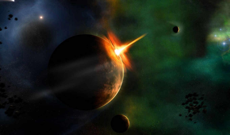space, звезды, планета, арт, астероид, картинка, scenic, kosmos, desktop, картинку, heavy,