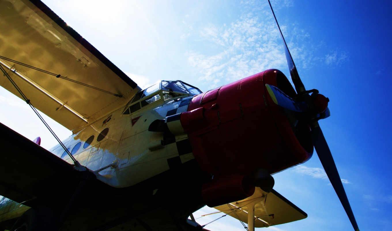 аэроплан, ан, небо, пропеллер, plane, airplane, поделиться, вернуться, изображения,