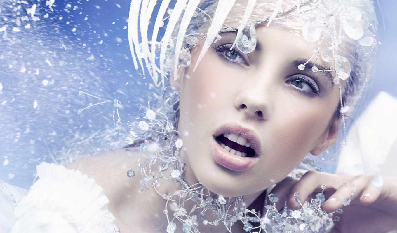 изображение, снежной, королевы, макияж, стиле, ледяного, утонченного, шика,