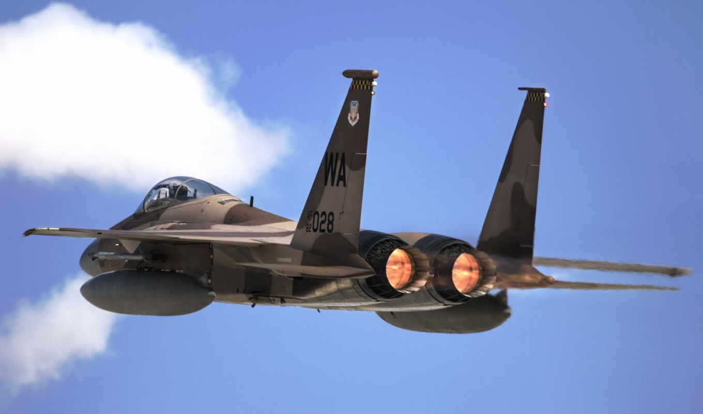 небо, desktop, картинка, самолёт, истребитель, самолеты, air, двигатель, military, force, airplane, eagle, самолетов, военных,