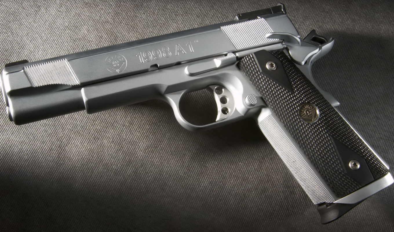 оружие, картинка, красиво, пистолет, картинку, металл, кнопкой, мыши,