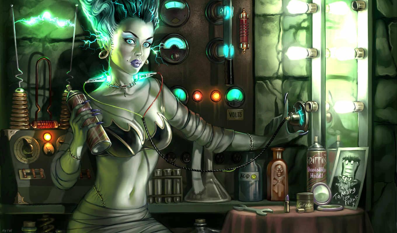франкенштейн, франкенштейна, full, картинка, electricity, женя, зеркало, лампочки,