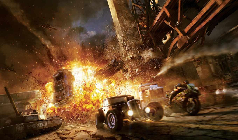 motorstorm, взрыв, apocalypse, гонки, игры, машины, games,