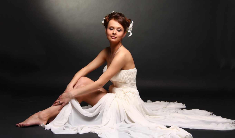 невеста, свадебный, модель,