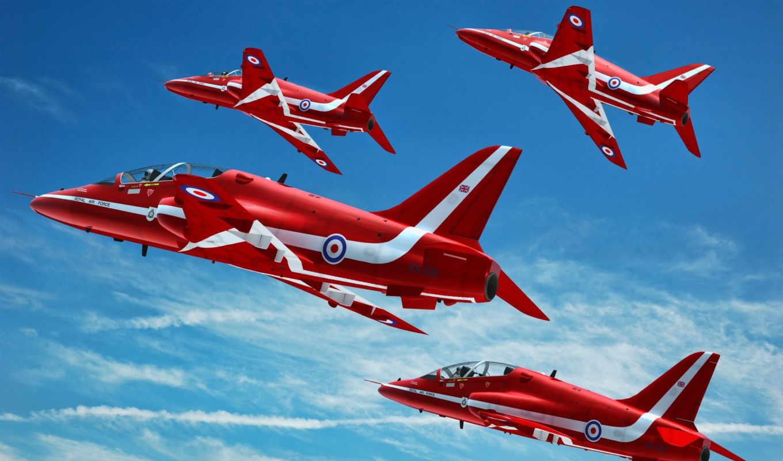 красные, самолеты, red, planes, полет, небе, streaks, desktop, hawk, чутко,